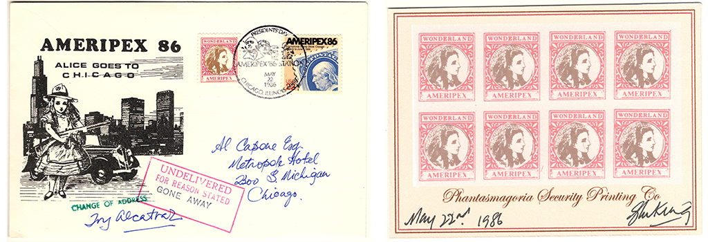 Gerald King - Ameripex 86 Stamps, Proof & Covers